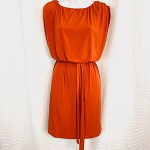 EN FOCUS STUDIO Orange Blouson Dolman Sleeve Dress